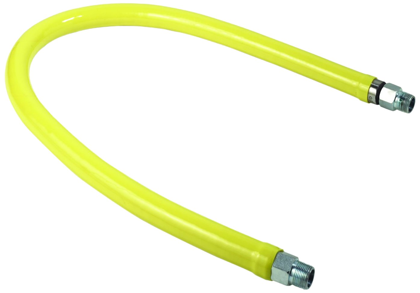 T/&S Brass HG-2E-48 Gas Hose with Free Spin Fittings 1-Inch Npt and 48-Inch Long
