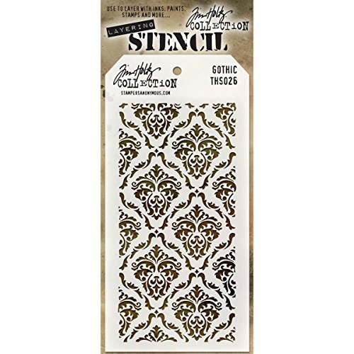 Stampers Anonymous Holiday Knit Tim Holtz Layered Stencil, 4.125-Inch by 8.5-Inch (Holiday Knit Tops)