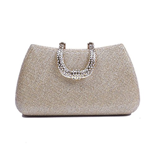 Women's Square Color Solid Clutch Small Bag Bag Bag Purse Gold Evening Party JESSIEKERVIN Diamond U0dpxqd
