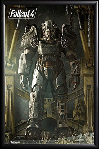 FRAMED Fallout 4 - T-45 24x36 Poster in Black Detail Finish