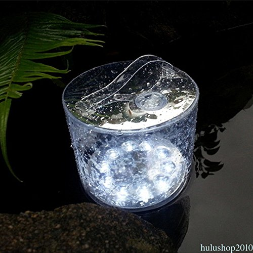 FidgetFidget Lamp Inflatable Outdoor Portable 10 LED Solar Powered Tent Camping Night Light