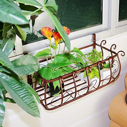 - JFFFFWI Flower Rack European Balcony railings Flower Rack, Iron Fence Hanging Carnival, Flower Pot, Living Room Indoor Wall-Mounted Flower Shelf Home Decoration (Size : 502822cm)