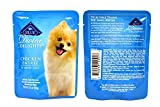 Blue Buffalo Divine Delights Wet Dog Food Variety Pack - 3 Flavors (Chicken, Turkey, and Beef) - 3oz Each (6 Total Pouches)