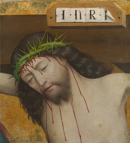 High Quality Polyster Canvas ,the High Resolution Art Decorative Canvas Prints Of Oil Painting 'Master Of Liesborn Head Of Christ Crucified ', 24 X 27 Inch / 61 X 67 Cm Is Best For Living Room Artwork And Home Artwork And Gifts