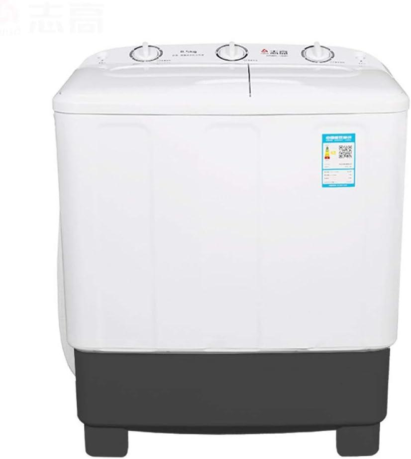 Lavadora 12,5 kg Cilindro de Doble Barril doméstica de Alta Capacidad Especial de Enjuague pequeña pulverización Semi-automática (Color : 11kg)