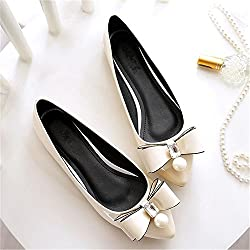 Tianshui Store Women Soft Leather Flats Spring Casual Black Toe Ballerina Ballet Flat Slip On Shoes Work Shoes Beige 12