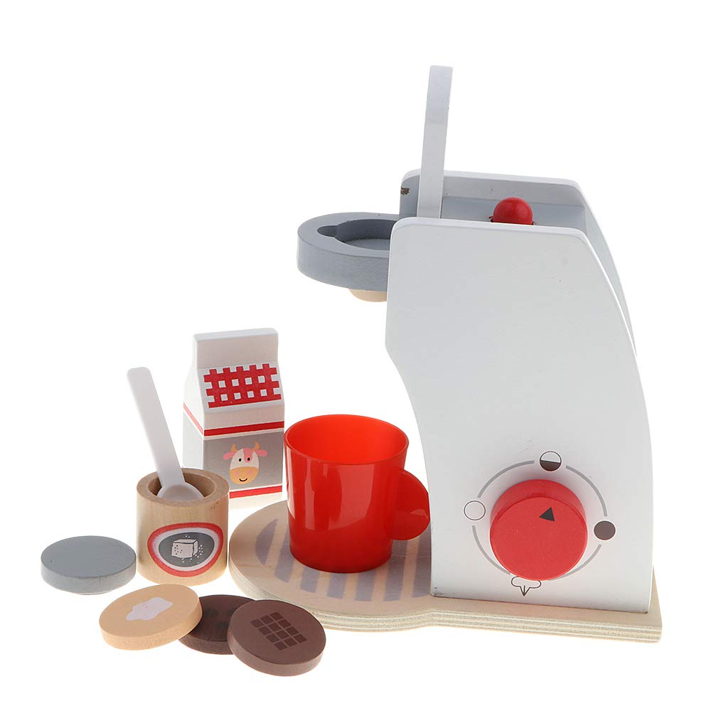 Sharplace Juguete de Utensilios de Cocina de Simulaci/ón Madera Juego de rol para Ni/ñso Ni/ñas M/áquina de Pan
