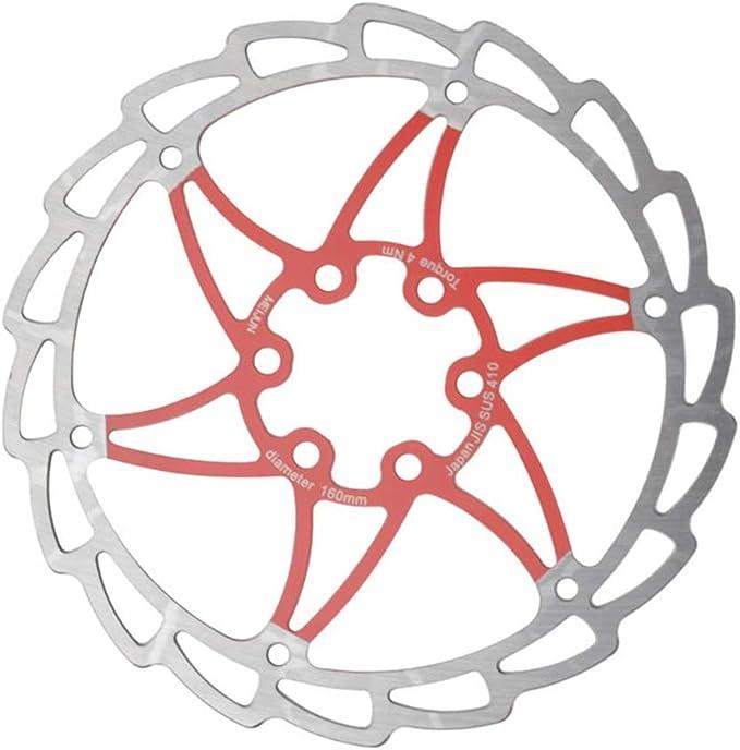 Los discos de freno moto Unisexs Bike Parts Rotor de freno de disco de bicicleta 160 mm for la mayoría de las bicicletas Bicicleta de carretera Bicicleta de montaña BMX MTB Cinco