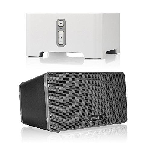 Sonos CONNECT Wireless Receiver for Streaming Music Bundle & Sonos PLAY:3 Wireless Speaker, Single – Black