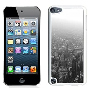 Lovely and Durable Cell Phone Case Design with London Aerial Black White iPod Touch 5 Wallpaper in White