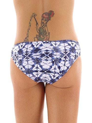 Brunotti Bikiniunterteil Badehose Beachwear blau Muster Saprese Gr. 38 161223638