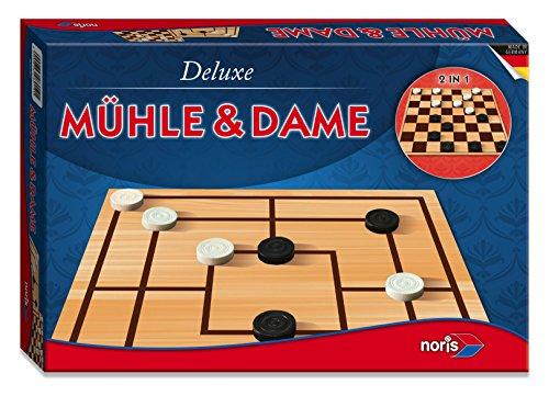 Noris Spiele 606108012 - Deluxe - Mühle und Dame