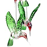 Solar Hummingbird Wind Chimes, Color-Changing Waterproof Solar Power Windchime Night Lights Decor Lighting Hanging Lantern Outdoor for Patio Deck Yard Home Decoration(130mmx600mm)