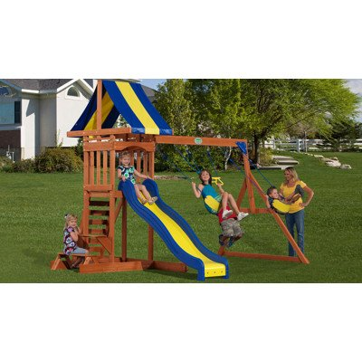 Amazon Com Adventure Playsets Providence Swing Set With Snack