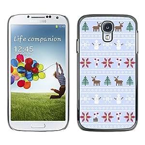 TopCaseStore / la caja del caucho duro de la cubierta de protección de la piel - Snowman Sweater Xmas - Samsung Galaxy S4 I9500