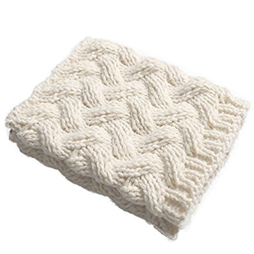 HITOP Women's Short Boots Socks Crochet Knitted Boot Cuffs Leg Warmers Socks (Ivory)