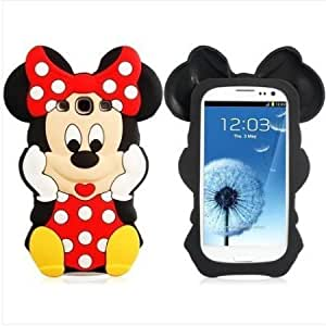 Cerhinu niceEshop Black/Red Disney Minnie Cartoon Mouse Soft Silicone Case Cover Fit For The Samsung Galaxy S3 i9300 +...