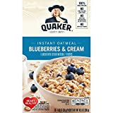 Quaker Instant Oatmeal Breakfast Cereal, Blueberries and Cream, 12.3 Ounce Larger Image