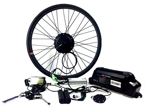 26x4.0 New Electric Fat Tire Bike Beach Snow Bicycle E-bike, Electric Bike Fat Tire Rear Motor Conversion Kit, 48V 500W Geared Hub Motor Conversion Kit with Lithium Battery and LCD Display by NBPower