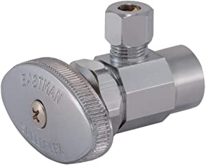 Eastman 04384LF Multi-Turn Angle Stop Valve 1/2 inch Nom Sweat x 1/4 inch OD Comp, 1/4