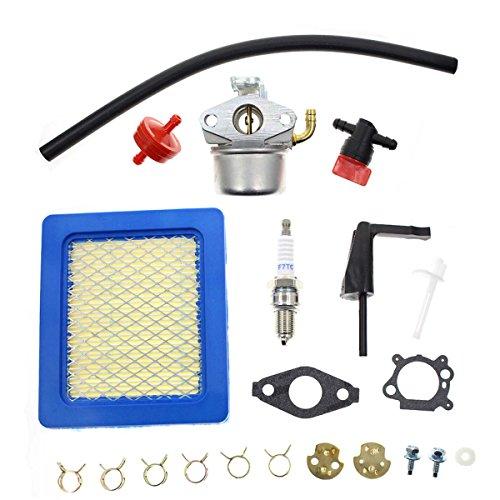 Carbhub Carburetor for Briggs & Stratton 791077 696981 Craftsman Tiller Intek 190 6hp 206 5.5hp Engine Motor 6.5hp Intek Power Washer Go Kart Generator with Air Filter Spark Plug Fuel Hose ()