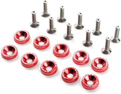 Car Styling Universal Eloxierte Aluminium Unterlegscheiben M6x20 Stahlschraube Rot Baumarkt