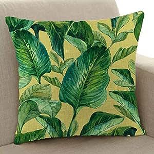 muium Planta Tropical Lino Funda de Almohada sofá,Vintage ...