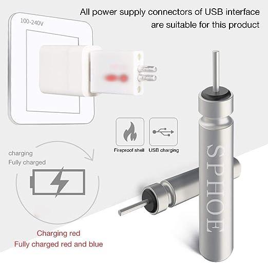 Wiederaufladbare CR425 Batterien Set F/ür Angeln Schwimmt Nachtangeln osmanthus Angeln Schweben USB Ladegeraet Und Aufladbar Akku