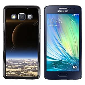QCASE / Samsung Galaxy A3 SM-A300 / saturno vista espacio de arte extranjero planetas cosmos / Delgado Negro Plástico caso cubierta Shell Armor Funda Case Cover