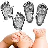 Anika-Baby BabyRice 3D Baby Casting Kit (Pack of 12, Large, Metallic Pewter)