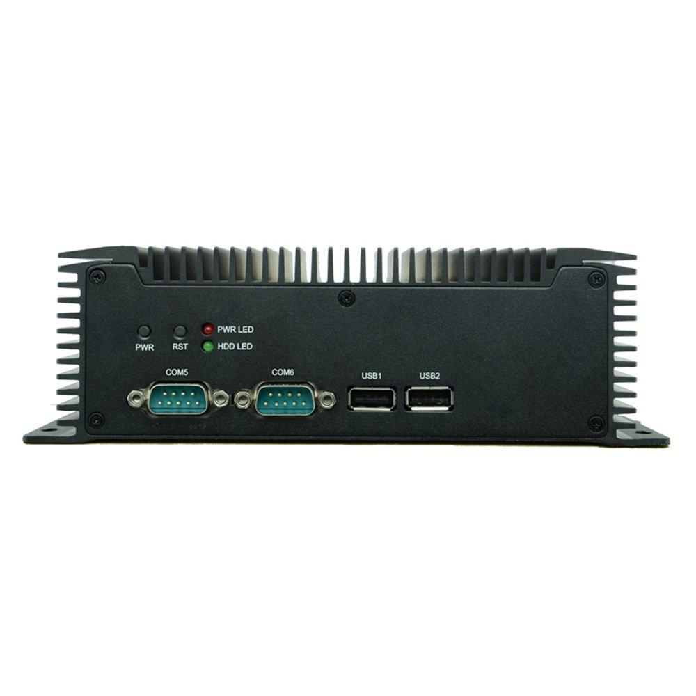 Embedded Fanless Industrial Mini PC Intel Atom N2600 6 COM COM2 Support RS485 2 Gigabit Ethernet with PXE Walk on Lan 4G RAM 64G SSD Partaker Q7