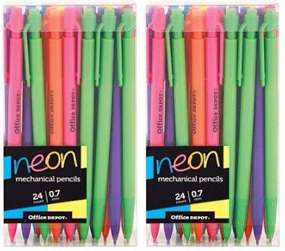 Office Depot (TM) Mechanical Pencils, 0.7 mm, Neon Colors, 48 (Office Depot Mechanical Pencils)