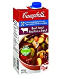 Campbell's 30% Less Sodium Beef Broth, 900 ml (Pack of 12)