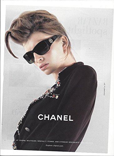 **PRINT AD** With Luca Gadjus For Chanel 2004 Sunglasses **PRINT AD** (Sunglasses Chanel)