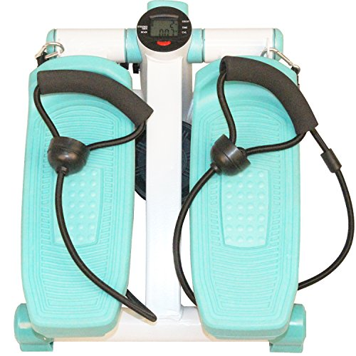 Dr. Health Home Use Mini Stepper with Exercise Bands,Blue