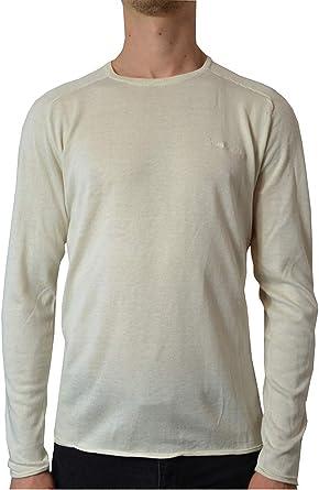 Pierre Cardin Camiseta Ligera para Hombre de Manga Larga Suave y Super Liviana de Punto con Cuello Redondo: Amazon.es: Ropa y accesorios