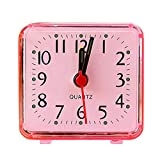 fenjunshangmao_Accessories Mini Size Alarm Clock, Classical Travel Alarm Clock with Beep,Lightweight Analog Quartz Clock,Battery Operated for Living Room, Baby Room, Office