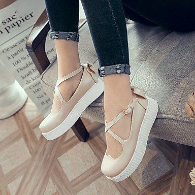 Cómodo y elegante soporte de zapatos de las mujeres pisos primavera verano otoño Casual de piel sintética comodidad enredaderas lazo hebilla negro rosa beige rosa