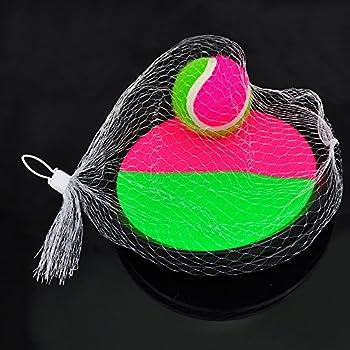 Pevor Paddle Tennis Toy Ball Toss & Catch Sports Ball Throw Catch Bat Ball Game Set 3