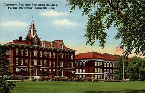 university hall and recitation building purdue university lafayette indiana original vintage postcard