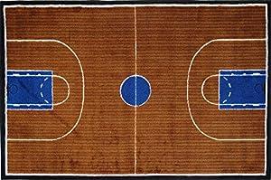 LA Rug Basketball Court Rug 5u00273