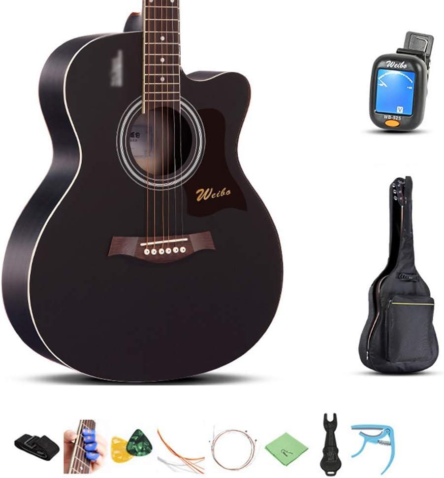 YJFENG-Guitarra Acústica Resonancia Potentes Voces para Principiantes Botón De Cuerda Completamente Cerrado Cuerdas De Latón Niños Y Niñas Comunidad Guitarra Acústica