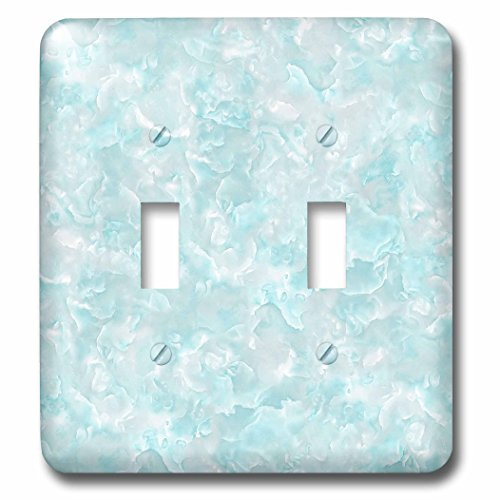 3dRose Uta Naumann Sayings and Typography - Trendy Luxury Blue Teal Quartz Malachite Gemstone Agate Geode - Light Switch Covers - double toggle switch (lsp_275149_2)