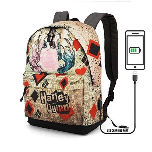 DC Comics Harley Quinn Mad Love backpack 42cm: Amazon.es: Oficina y papelería