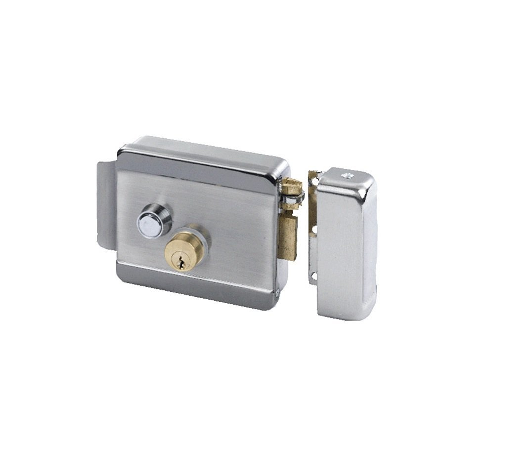 Electric Gate Lock ATI 01X Securely Buzz Visitors In Or Out Remotely: Wireless Remote Controls, Chime, Exit Button, Power Supply, 50' Electrical Cable (Uses Yale Keyway) by ATI (Image #7)
