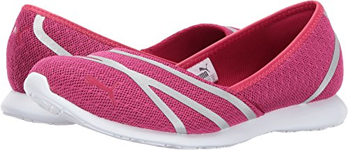PUMA Women's Vega Mesh Ballet Flat, Love Potion-Dark Purple, 10 M (Athletic Ballet Flats)