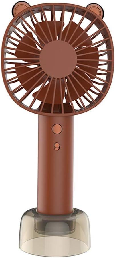 BENCONO Handheld Fan USB Mini Portable Fan Summer Desktop Fan Color : Brown