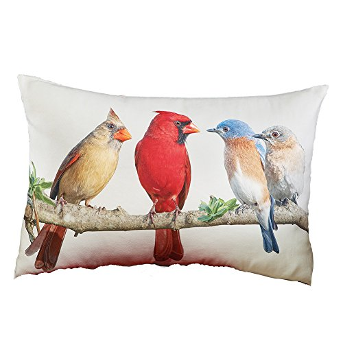 Collections Etc Birds on a Branch Decorative Accent Throw Pi
