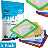 glass wax extractor - SILICONE ALLEY Non-stick Wax Mat Pad [5-Pack]/Silicone Nonstick Mat Small Rectangle 5