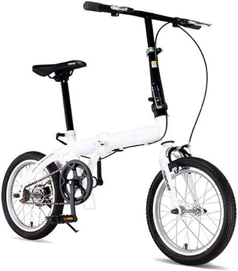 LQ&XL Urbana Bicicleta Plegable Ciudad Unisex Adulto Aluminio Bici ...